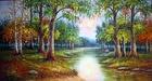 Tranh theu chu thap, tranh da quy, tranh dong: Rừng cây
