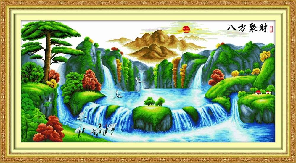 Tranh theu chu thap, tranh da quy, tranh dong: Bát phương tụ tài