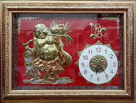 Tranh theu chu thap, tranh da quy, tranh dong: Đồng hồ - SP09