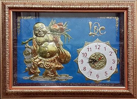 Tranh theu chu thap, tranh da quy, tranh dong: Đồng hồ - SP10