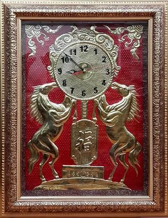 Tranh theu chu thap, tranh da quy, tranh dong: Đồng hồ - SP12