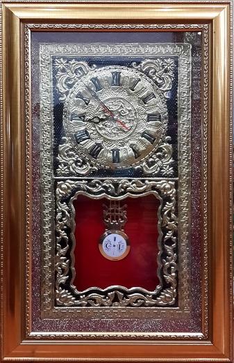 Tranh theu chu thap, tranh da quy, tranh dong: Đồng hồ - SP13