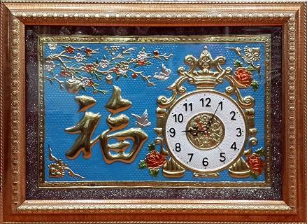 Tranh theu chu thap, tranh da quy, tranh dong: Đồng hồ - SP14